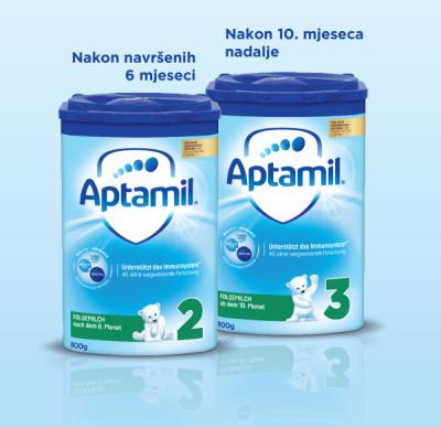 Aptamil 2 i Aptamil 3 Pronutra napredne formule